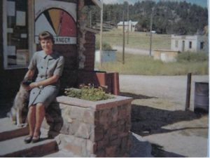 Georgie at the Red Feather Lakes Post Office