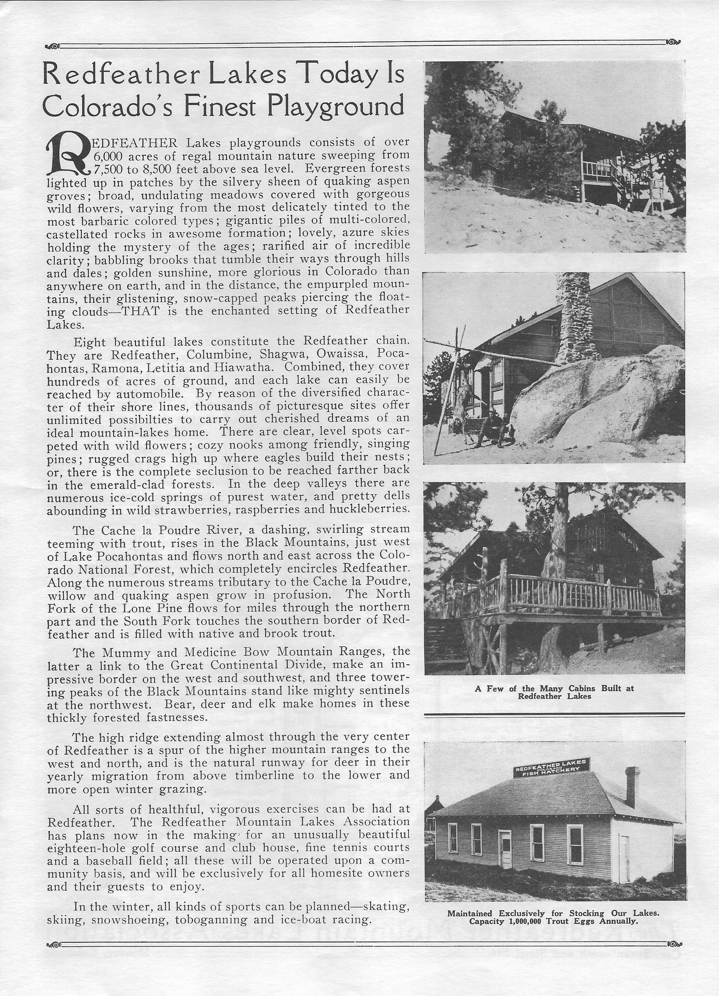 Redfeather Historical Brochure