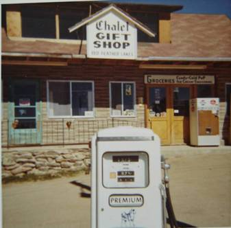 Grauberger's Chalet Gift Shop on Main St. Red Feather Lakes – now home to Panhandle Creek Hardware