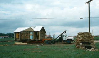 Robinson Cabin Moved onto New site