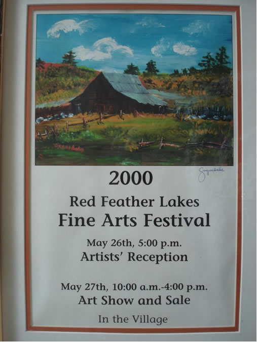"""2000 acrylic of """"Batterson Barn"""" by Sugarbabe Carnival"""