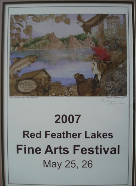 """2007 watercolor of """"Princess Red Feather"""" by Candace Alexander"""