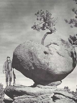 Heart Rock as it appears in Red Feather Lakes the first hundred years 1871-1971