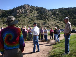 Mike and Dan Maxwell giving the history of the Maxwell Ranch