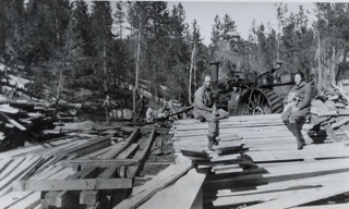 Logging on Goldsborough Ranch in early 1930's