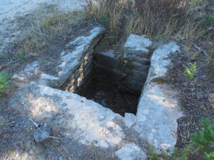 One of the many catch-basins long the Deadman Road built by the CCC.