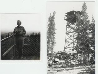 Bernice George at the Deadman Tower in 1940
