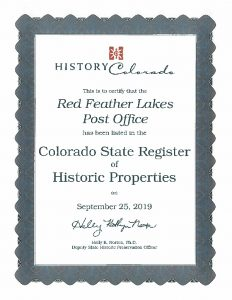 RFL post office historic certificate