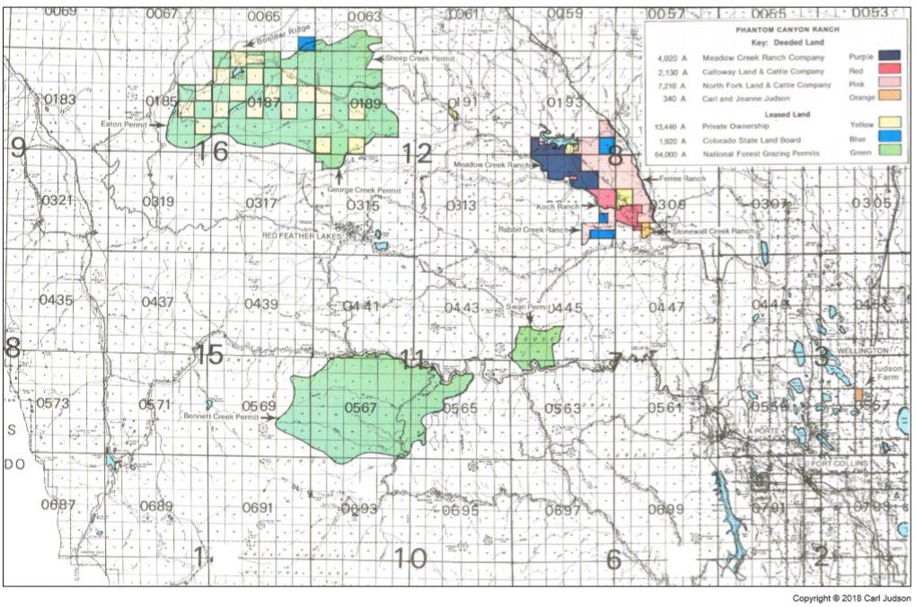 Map of Phantom Canyon Ranch
